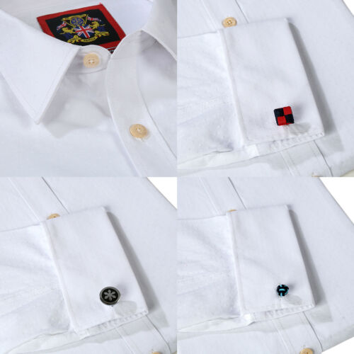 Rosa Three Shirts Doble Gemelos cielo Pack Mens Metal blanco Cuff 3 Tailored CwnxFXzqp