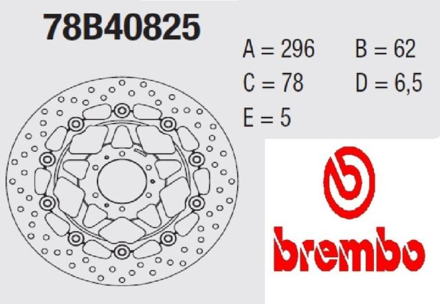 Disque Frein Brembo Série Or Cod. 78B40825