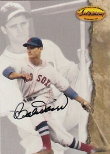 Bobby Doerr (2) autographed card lot - Boston Red Sox