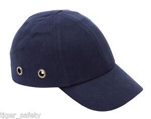 Proforce-Azul-Marino-Seguridad-Estilo-Beisbol-VENTILADO-Bump-Tapa-Casco-de