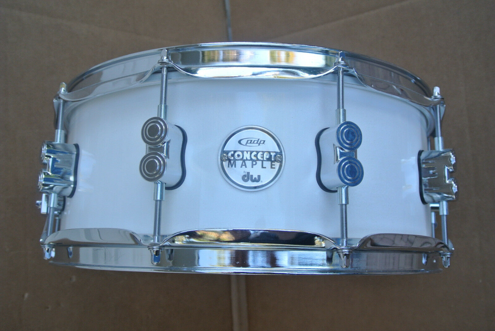 PDP by DW 14  CONCEPT MAPLE PEARLESENT Weiß SNARE DRUM for YOUR DRUM SET   V754