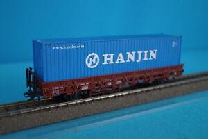 Marklin-4694-DB-Rungen-wagen-with-40-ft-Container-HANJIN