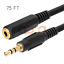 3.5mm Stereo 75 FT Audio Headphone Extension Cable Male to Female M//F MP3