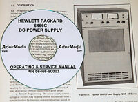 Hp 6466c Dc Power Supply Operating & Service Manual
