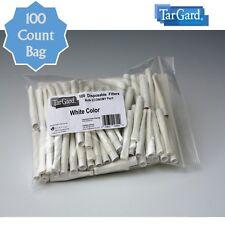 TarGard Disposable Cigarette Filters Bulk Bag of 100 - White Tar Gard Block Stop