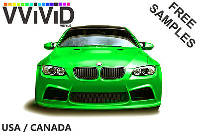 "VViViD 12/"" x 24/"" Green Glow in the Dark Vinyl Wrap Decal"