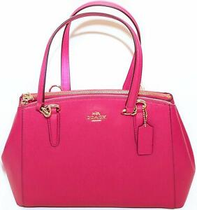 SMALL CHRISTIE CARRYALL IN CROSSGRAIN LEATHER (COACH F57520 IMBPK)
