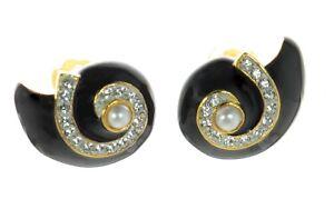 Enamel Shell Earrings