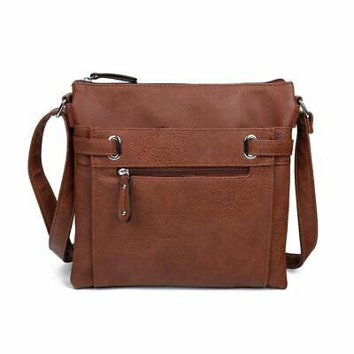 Ladies Faux Leather Cross Body Messenger Bag Women Shoulder Tote Satchel Handbag