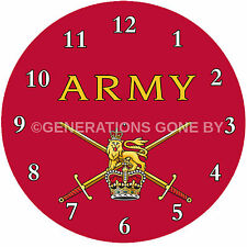 BRITISH ARMY GLASS WALL CLOCK