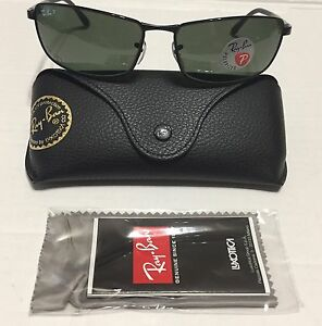 e3d5ea87aa New Authentic RayBan RB3498 002 9A 64mm Black Green Polarized Lenses ...