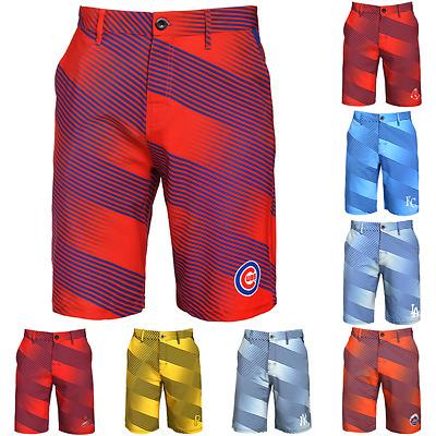 Forever Collectibles MLB Men/'s Boston Red Sox Diagonal Stripe Walking Shorts