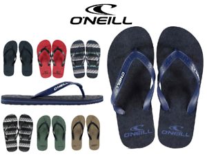 Nuevas-chanclas-flip-flop-para-hombre-O-039-NEILL-Designer-Branded-Talla-8-13-Azul-Rojo-Verde-Negro