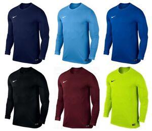 Nike Park Mens Long Sleeve T-Shirt Football Training Sports Jersey Top S M L XL