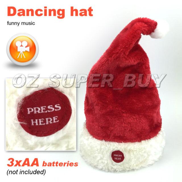 Dancing Santa Christmas Xmas Hat Mas Hat Novelty Singing Rocking FUNNY KIDS