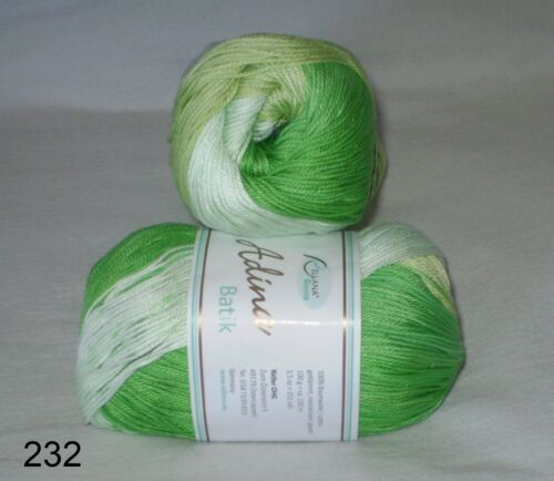 100 gr ADINA BATIK  von Rellana 100 /% Baumwolle mit schönem Farbverlauf