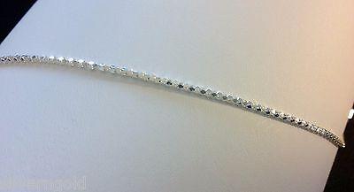 """Ankle Bracelet-Anklet-Solid Sterling Silver .925-DiamondCut Snakeskin Link-9"""""""