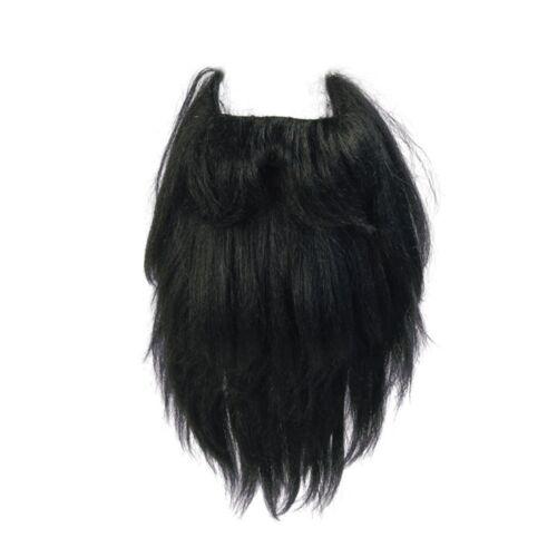 Hagrid Moustache Tash Fancy Dress Black Giant Sized Pirate Beard