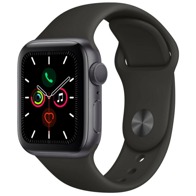 Apple Watch Series 5 GPS, 44mm Space Gray- NEW