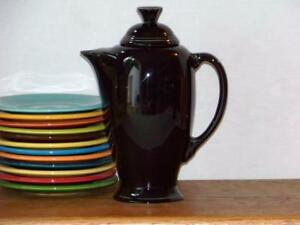 Fiesta-BLACK-Post-86-Coffee-Server-Discontinued-Item-1st-Quality