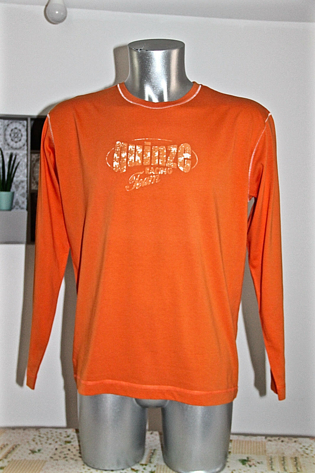 SERGE whiteO Très joli pull sweat homme orange size L EXCELLENT ÉTAT