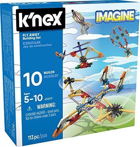 113 Pièces-Âges 5 KNEX Imagine-Débutant Fun Fly Away Building Set