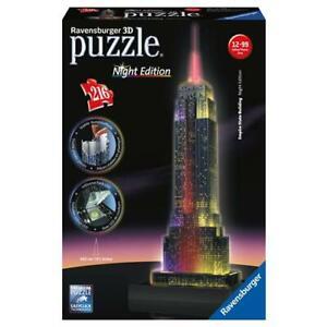 Ravensburger-125661-Puzzle-3D-Empire-State-Building-Edition-nuit-avec-eclair