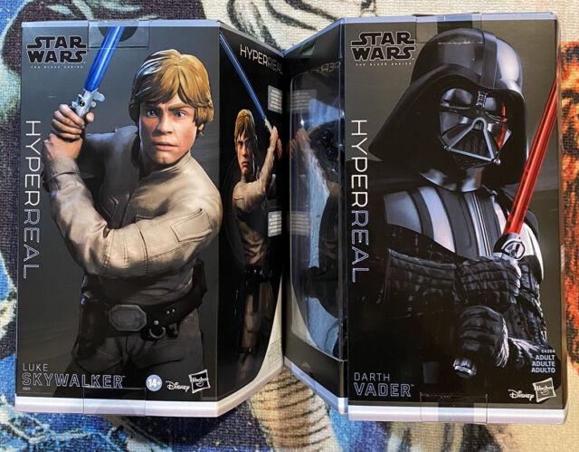 Star Wars The Black Series Luke Skywalker & Darth Vader Hyperreal 8-Inch Figure