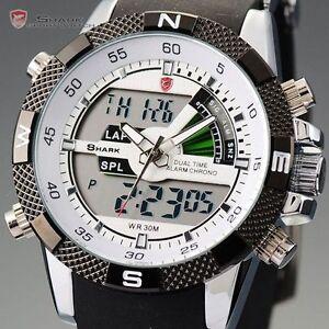SHARK-Luxury-Mens-Army-Dual-Display-Alarm-Chronograph-Sport-Wrist-Watch-UK