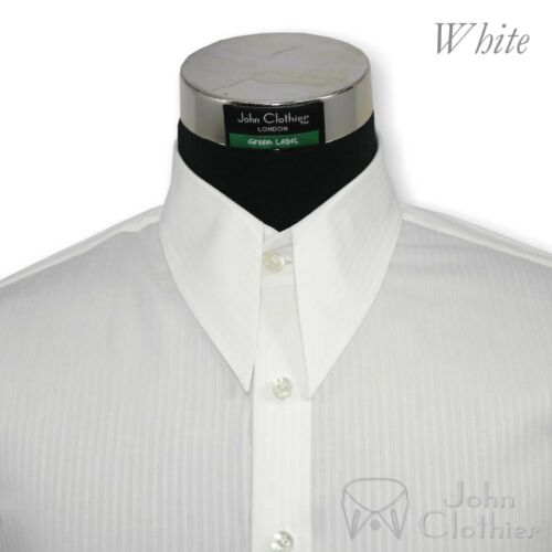 Spear point Vintage shirt White Stripes WWII Cotton 1930s era Classic fit Gents