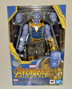 S.H Figuarts Thanos Action Figure Avengers Infinity War Bandai Tamashii Nation