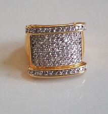 Men's Gold Finish Hip Hop Bling Designer Rapper Style Ring For Any Occasion