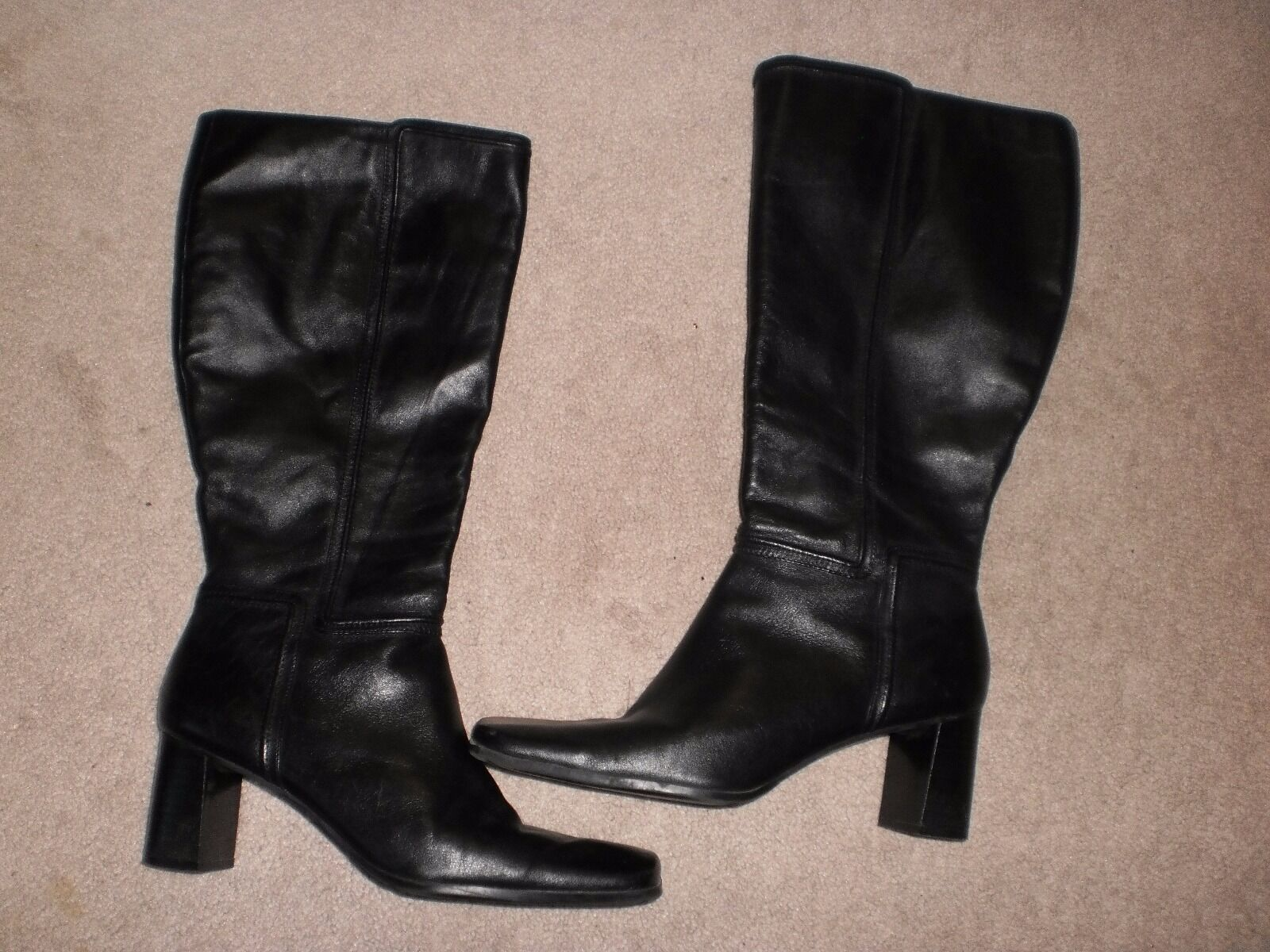 Nine West black leather boots Fleetown  9