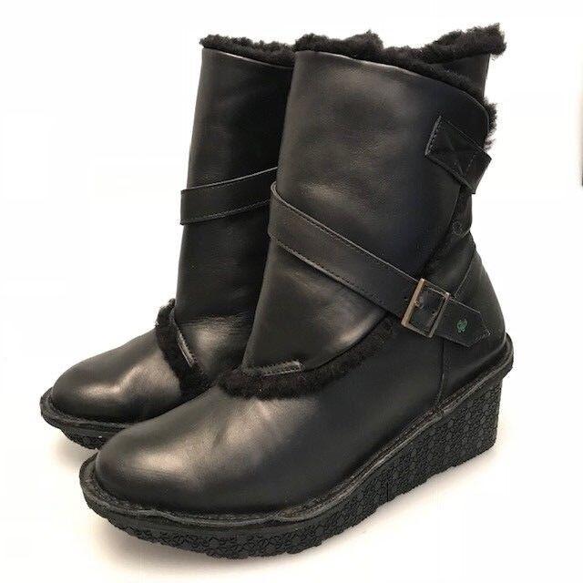 Po-Zu Winter damen platform Stiefel  in Leather UK Größe 5
