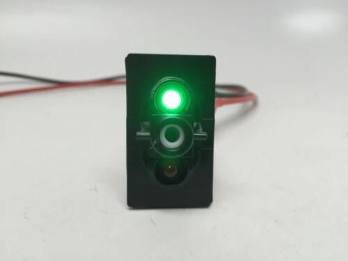 -OFF- SPDT 4PIN 2LED GREEN RED MARINE BOAT RUNNING LIGHTS ROCKER SWITCH ON ON