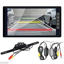 "9"" TFT LCD Rear View Monitor + Wireless Night Vision Car Reverse Backup Camera"