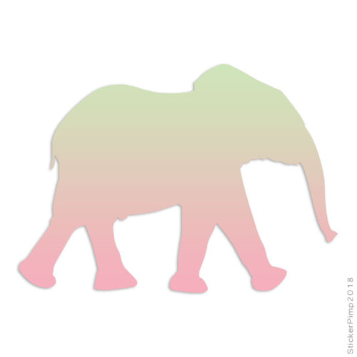 Size #264 Elephant Walking Decal Sticker Choose Pattern