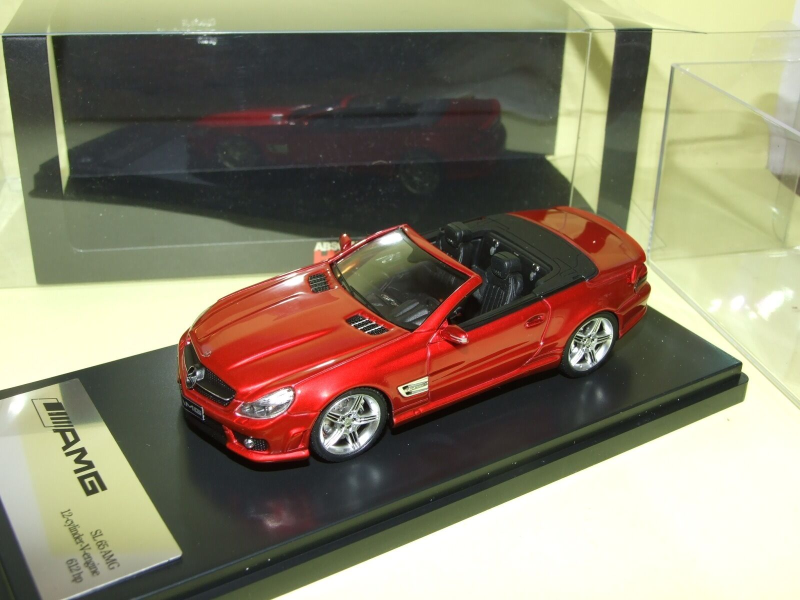 MERCEDES SL 65 AMG Cabriolet Rouge ABSOLUTE HOT 1 43