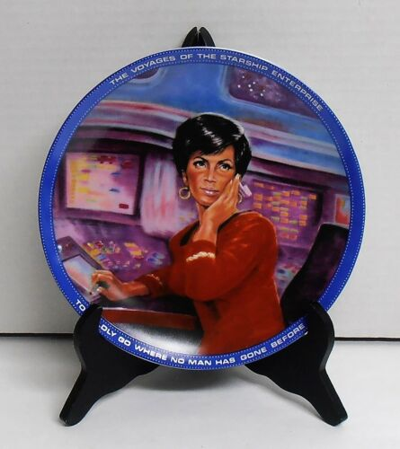 1984 Star Trek Lieutenant Uhura Collectors Plate by Ernst Low Production Number