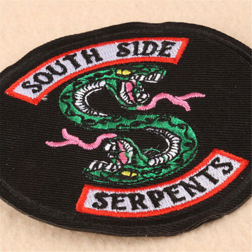 Green Double-headed Serpents Embroidery Badges Iron on Patch For Clothing Jean