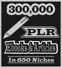 300,000 PLR Ebooks & Articles In 650 Niches Reseller Pack With Sales Page