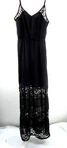 WET-SEAL-WOMEN-039-S-MAXI-BLACK-DRESS-STYLE-D1932-IMPORTED-100-POLYESTER-MEDIUM