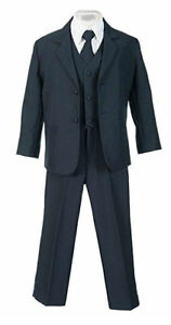 e00e268ff Boys Suits Navy Kids Children Formal Dress Infant Toddler Size S-XL ...