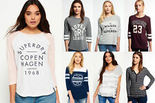 New Womens Superdry Tops Selection - Various Styles & Colours 1110