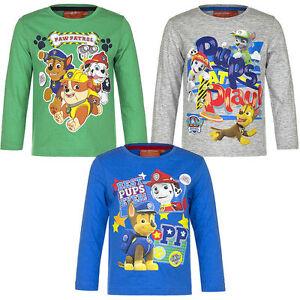 PAW-Patrol-Shirt-langarm-98-104-110-116-Langarmshirt-Junge-Kinder-NEU-Pullover