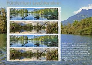 Liechtenstein-2018-neuf-sans-charniere-reserves-naturelles-Halos-8-V-M-S-arbres-Lacs-timbres
