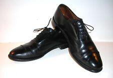 """ALLEN EDMONDS men's black LEATHER DRESS OXFORDS """"PARK AVENUE"""" size 11 B"""