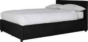Beds & Mattresses Black Professional Sale Hygena Austen Double Ottoman Bed Frame
