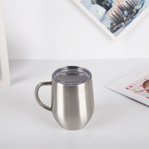 Stainless Steel Double Wall Insulated Thermal Coffee Tea Mug Cup With Lid #HA2