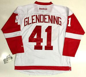 newest de460 a29c2 Image is loading LUKE-GLENDENING-DETROIT-RED-WINGS-WHITE-REEBOK-NHL-